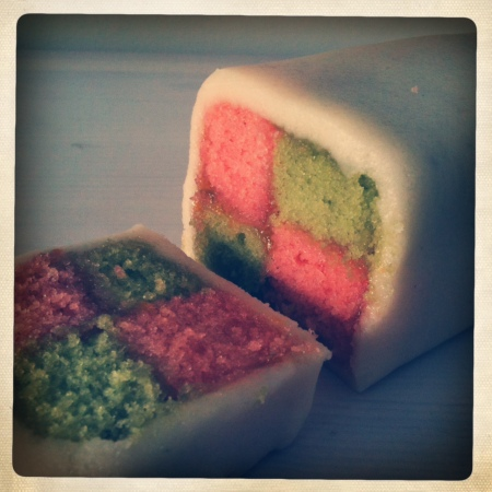 Battenberg close-up