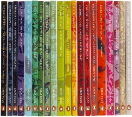 Penguin Great Food books spines