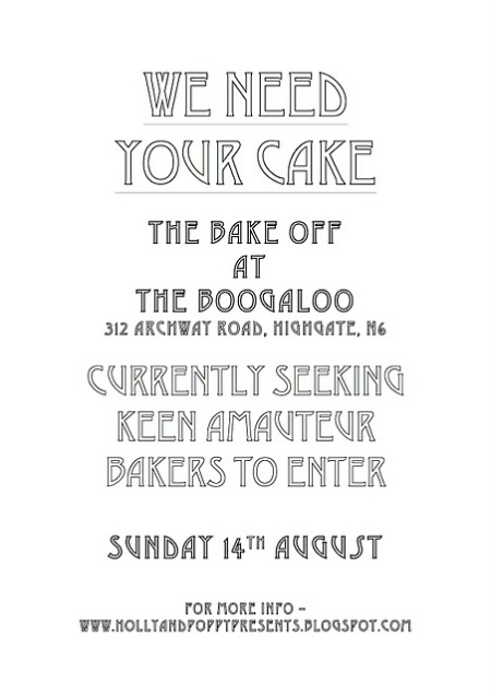 Bake-off at The Boogaloo flyer