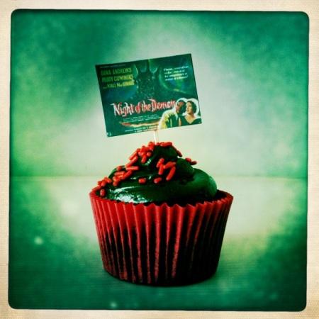 Choccy Horror cupcake