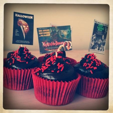 Choccy Horror cupcakes