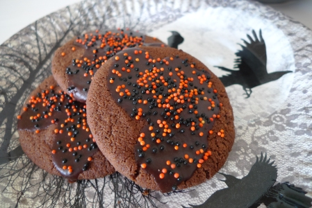 Halloween chocolate biscuits 3