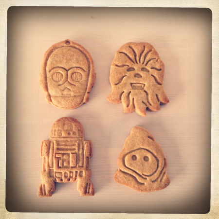 Star Wars matcha biscuits